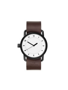 TID Watch No.1 White / Walnut Leather