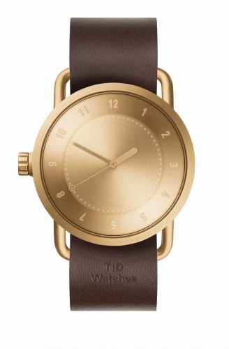 Zegarek unisex TID Watch No.1 Gold / Walnut Leather